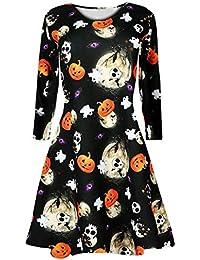 Chaleco de Halloween Gato y Vestido de Calabaza, Covermason Vestido de Calabaza de Halloween Vestido