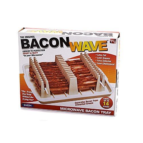 Bacon Wave - Kitchen Microwave Cooking Tray / Rack Grease Draining Device by Bacon Wave