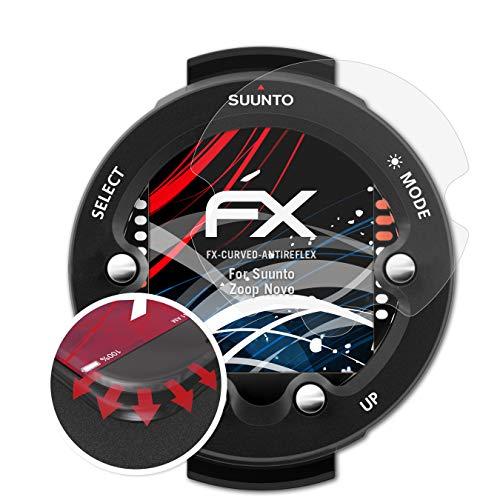 atFoliX Schutzfolie passend für Suunto Zoop Novo Folie, entspiegelnde und Flexible FX Displayschutzfolie (3X)