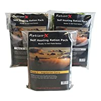 Pack of Three Self Heating Field Ration Packs - Ready to Eat Meals Menu A, B & C 6