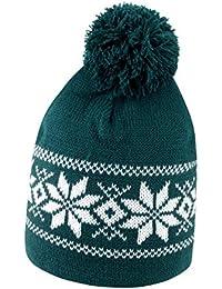 Cappellino da Sci con PON PON Cappello Invernale in Maglia Berretto Caldo da  Montagna 75a203d269d8