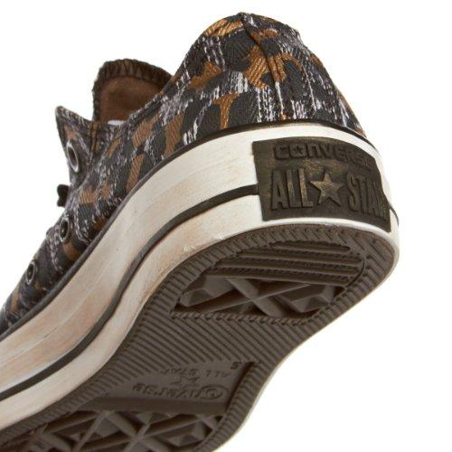 CONVERSE Chuck Taylor Rhineston Ox 308430-55-8  Damen Sneaker Nero (Leopard Black Kangaroo)