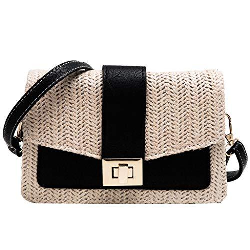 OIKAY Mode Damen Tasche Handtasche Schultertasche Umhängetasche Mode Neue Handtasche Frauen Umhängetasche Schultertasche Strand Elegant Tasche Mädchen 0605@078