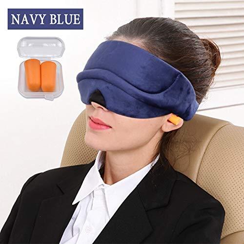 Weiche Augenmaske Schlafmaske Brille Augenringe zu entfernen,um Augen zu Entlasten Müdigkeit AugenmaskeMarineblau