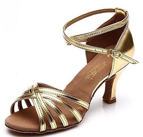 KUKI Scarpe da ballo latino per adulti con scarpe da ballo hanno aumentato le scarpe con suole morbide 1