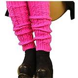 DDLBiz 1 Paire Femmes Hiver Chaud Bas Guêtre-Jambière-Cuissard-Legging Chaussettes en Acrylique à Tricoter (Rose)