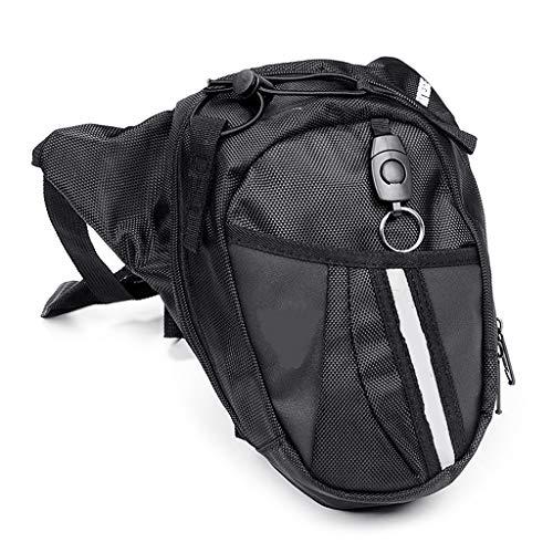 Kimruida Outdoor bag Leg Drop coscia Fanny marsupio moto unisex cintura bici borse, Uomo donna, Nero, Taglia unica