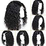 Leomi Hair Brazilian Virgin Human Hair Lace Front Wigs dolce ricci capelli Lace Wigs with Baby Hair for African Americans Natural color 130% Density