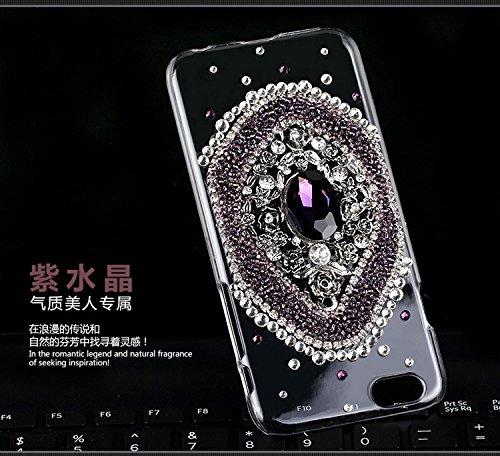 Coque iPhone 6/6s , iNenk® Téléphone Mobile luxe diamant Shell définit Glitter perle dur PC Creative mode luxe cristal protecteur manches pour les femmes-violet cristal Cristalviolet