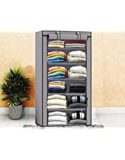 Keekos Collapsible Wardrobe Organizer, Storage Rack for Kids and Women, Clothes Cabinet, Bedroom Organiser_Wardrobe Organizer for Clothes