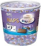 Milka Naps Alpenmilch - Zartschmelzende Mini-Schokoladentäfelchen aus feiner Alpenmilchschokolade - Dose - 1 x 1kg