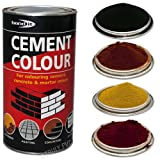 Bond-It Black 1kg Cement colour toner / dye / pigment - A tin of powdered colouring or dying pigment for toning cement, concrete & mortar