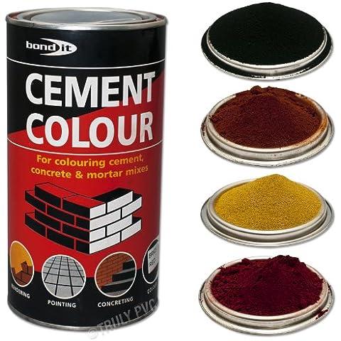 6x polvo para teñir de cemento, mortero Color Pointing Render hormigón ladrillo Bond-it Toner 1kg, Amarillo