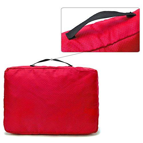 Giancomics® 3 Pcs Kofferorganizer Packtaschen Koffer Wäschtaschen Kleidertaschen Luggagebags Packwürfel Set Haushaltsware Reise Pack (Schwarz - 3 Pcs) Rot - 3 Pcs
