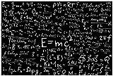 Wallario Poster - Mathematische Formeln – Relativitätstheorie in Premiumqualität, Größe: 61 x 91,5 cm (Maxiposter)