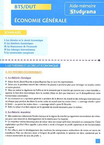 Economie générale BTS/DUT par Jean-Marie Le Tallec