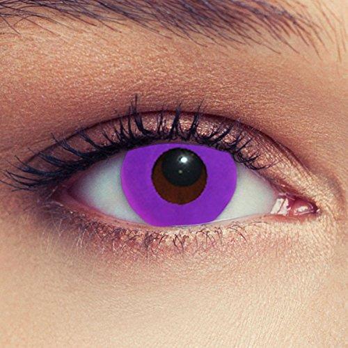 Violette farbige Kontaktlinsen für Halloween Karneval Farblinsen in violett Design: Purple Bigeye