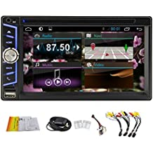 Quad-Core GPS Navigation Car DVD in dash gps player Radio Stereo Autoradio Universal In Dash Double Din dvd player 2 Din Bluetooth Multi-touch Screen car entertainment Mirror Link Hotspot Android 4.4 KitKat
