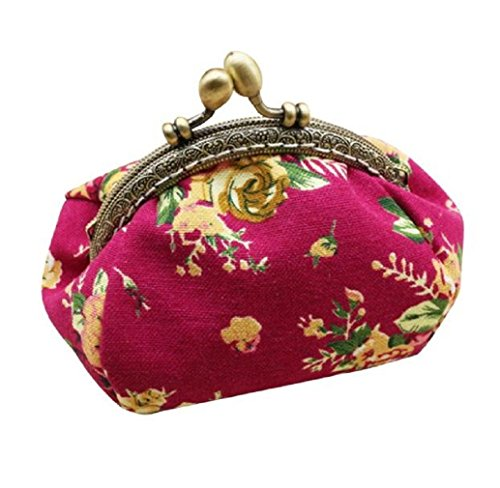Tongshi Retro Frauen Shell Shape Flower Design Münze Geldbeutel Geldbörse Bag Münze Pocket (hot (Hot Geldbörsen)