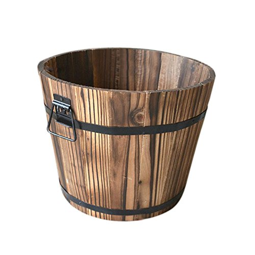 Whiskey--Maceta-de-medio-barril-de-madera-para-exteriores-para-oficinas-centros-comerciales-hoteles-bares-jardines-de-balcn-hogar-jardn-guardera-hoteles
