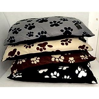 AmigoZone LARGE & Extra Large Crushed Valvet Dog Beds -Pet Washable Zipped Mattress Cushion 51TeYWkFFWL