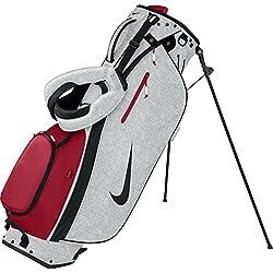 Nike Sport Lite II Carry Bag Bolsa de Palo de Golf, Unisex adulto, Blanco / Negro / Rojo, Talla Única