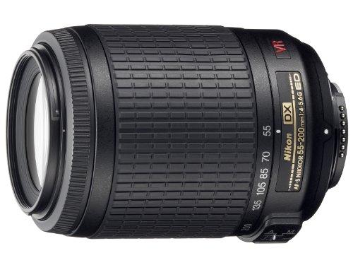 Nikon AF-S DX VR 55-200mm F4-5.6 G - Objetivo para Nikon (distancia focal 55-200mm, apertura f/4, estabilizador) color negro