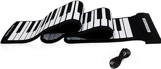 Andoer® 88 Tasti USB MIDI Rimboccarsi Elettronica Pianoforte Tastiera in Silicone Flessibile Professional