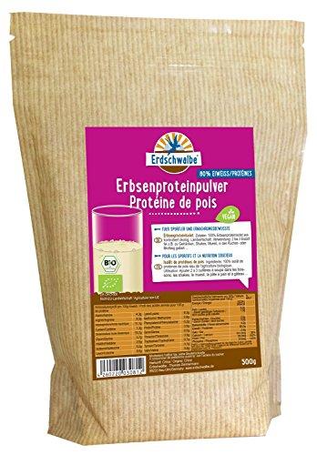 Erdschwalbe Bio Erbsen Proteinpulver, 1er Pack (1 x 500 g) -