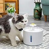 leegoal Dispenser Acqua per Fontana a LED per Gatti, Fontana per Acqua Automatica, Filtro a Carboni Attivi per Cani e Gatti