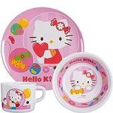 p:os Pos 68758 Hello Kitty 3-teilig Melaminset im Geschenkkarton