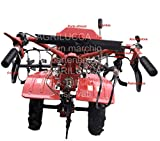 AGRILUCCA Motozappa motocoltivatore Fresa 105 cm ingranaggio Bagno Olio con Ruote pneumatiche