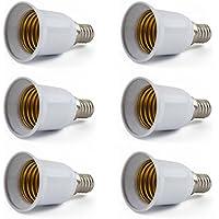 AWE-LIGHT 6 Pezzi E14 a E27 Base Vite Convertitori Luce LED Lampada Lampadina Adattatore