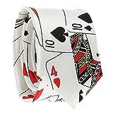 Cravate Jeux de Cartes Blanche - Cravate Fantaisie Originale Poker