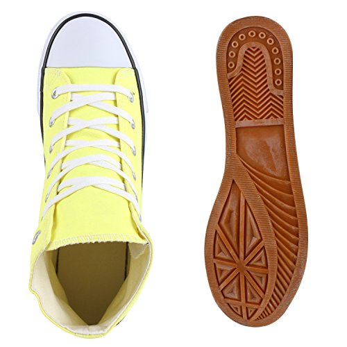Herren Schuhe Sneakers | Sneaker High Denim | Turnschuhe Camouflage | Stoffschuhe Schnürer Hellgelb