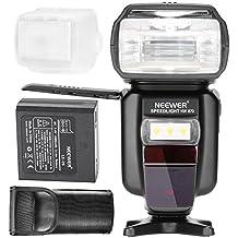Neewer® E-TTL / I-TTL HSS maestro / esclavo flash Speedlite para Canon y Nikon Cámaras DSLR con 2400mAh recargable de ion de litio + AC (NW 870)