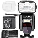 Neewer® E-TTL / i-TTL-HSS-Master / Slave-Blitz Speedlite für Canon & Nikon DSLR-Kameras mit wiederaufladbaren 2400mAh Li-Ionen-Akku + AC-Ladegerät (NW 870)