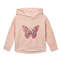 Mantaray Kids Girls' Pink Sequinned Butterfly Hoodie Age 3-4