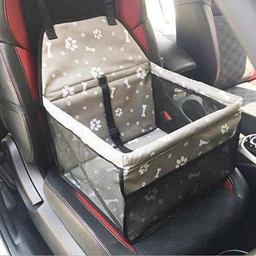 MOIMK Eigener Auto-Hundesitz Für Kleine Hunde   Autositz-Hund 40X30x25cm Als Sitzschutz   Wasserfester Und Sicherer Transport Für Ihren Hund Auf Rückbank Oder Beifahrersitz, Gray