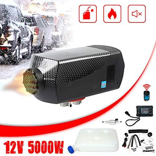 Triclicks 12V 5KW Diesel Luftheizung Air Standheizung Kraftstoff Auto Heizung Lufterhitzer mit Fernbedienung LCD Monitor für RV, Boote, LKW, Wohnmobil Anhänger, Wohnmobile (Stil 2)