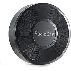 RIVERSONG ® Wireless DLNA Airplay Adattatore della ricevente di musica con Pandora TuneIn iheartradio Spotify per Apple iOS dispositivi Android - Supporto multi camera in streaming per Same Song o canzoni diverse (AudioCast)