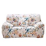 ENZER Sofa Bezug 1 2 3 4-Sitzer-Bettüberwurf Sessel Blumen Vogel Easy Stretch Elastischer Stoff Sofa Couch Cover Protector (3 Sitzer, Cleome Spinosa)
