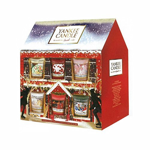 Yankee Candle Christmas 12 Votive House Inc. NEW 2015 Winter Glow, Cosy By The Fire, Bundle Up & Berry Trifle by Yankee Candle