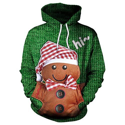 Guomao Hombre Pan Jengibre impresión Sueltan suéter