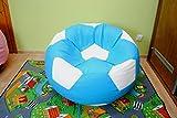 Sitzsack aus Kunstleder, Fußball-Form