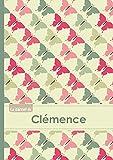 Le carnet de Clémence – Lignes, 96p, A5 – Papillons Vintage