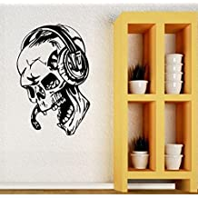 ELTON Game Skull Decal Sticker Wall Vinyl Art Design Gamer Cool Funny Game Room