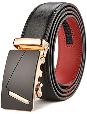 HW Zone Cinturón Para Hombre de Cuero Piel con Hebilla Deslizante Automática