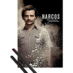 Póster + Soporte: Narcos Póster (91x61 cm) Blow Business Y 1 Lote De 2 Varillas Negras 1art1®
