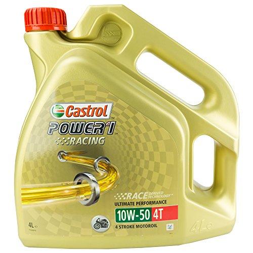 Castrol 15040C POWER1 Racing 4 T 10W-50 Hochleistungsöl Motorrad Motorroller 4 L